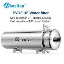 Wheelton pvdf uf purificador de água casa inteira ultration filtro de água 0.01um filtros 3500l/h sus304 água potável (base no municip