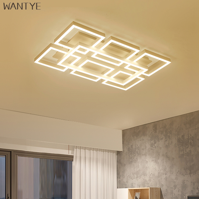 Creative Square LED Ceiling Lights for Living room lighting fixtures Surface Mounted Modern Ceiling Lamp Minimalist geometry