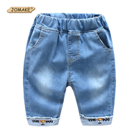 JOMAKE Cartoon Kids Jeans 2018 New Summer Style Casual Baby Boys Pants Calf Length Cowboy Denim