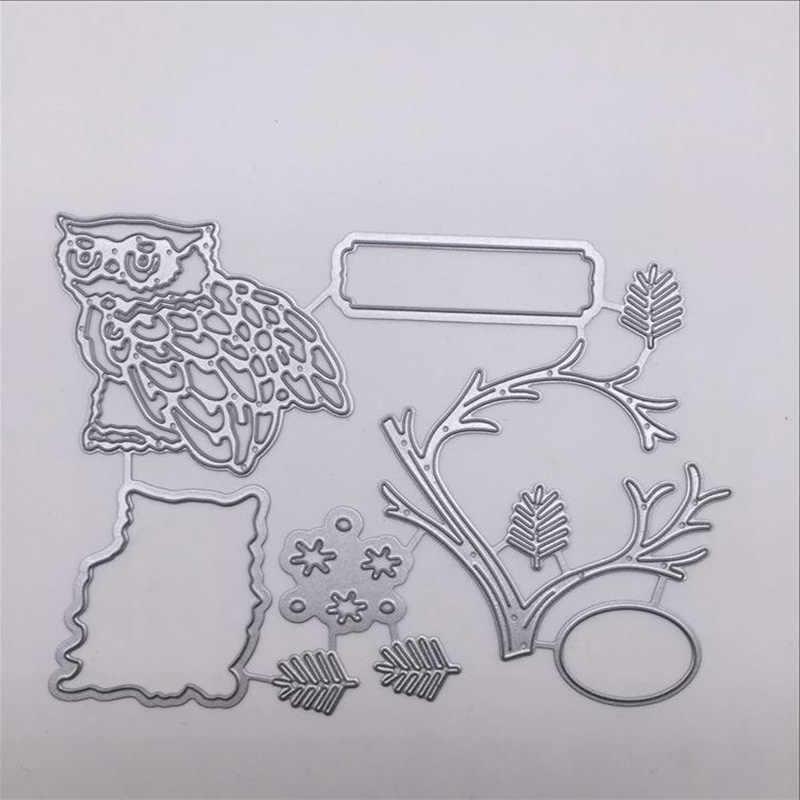 """Кружевные животные цветы металлические трафареты для пресс-формы бумага для скрапбукинга Крафтовая окраска карты Сова Форма """"Птичка"""" резка"""