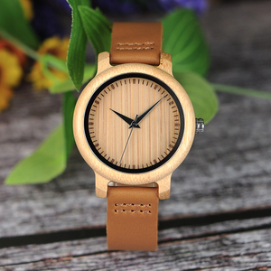 Image 2 - ボボ鳥ミニマリストの木腕時計メンズギフト腕時計女性レザーストラップ腕時計レロジオ masculino ドロップ無料