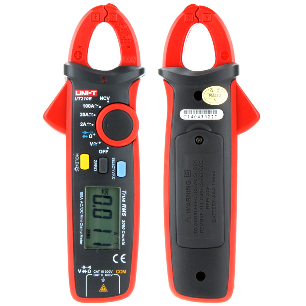 Professional Mini Portable Handheld LCD Diaplay Digital AC/DC Current Clamp Multimeter w/ Capacitance Tester мультиметр multimeter 5818 ac dc w