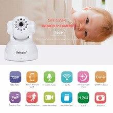 Sricam SP012 IP Kamera WIFI 720 P Ev Güvenlik Gözetim Onvif P2P Telefonu Uzaktan 1.0MP Kablosuz Video Gözetim Kamera