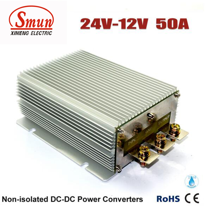 24VDC to 12VDC 50A 600W Step Down DC-DC Converter For Car and Golf Cart детский ночник lucide hippo 71556 21 35