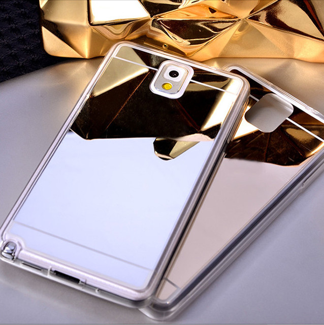 best service 8511b 2d8e7 US $1.85 |Luxury Bling Mirror Case Soft Protective Back Cover For Samsung  Galaxy Note 3 N9000 Luxury Gold Plating Cover-in Fitted Cases from ...