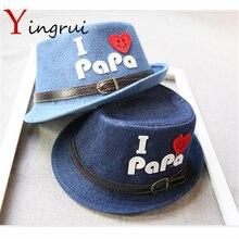 Moda de verano estilo niño bebé Fedora sombrero playa sombrero para niños  Jazz CAP para niño niña Denim paja sombrero Panamá amo. b0dd2f0c00ba