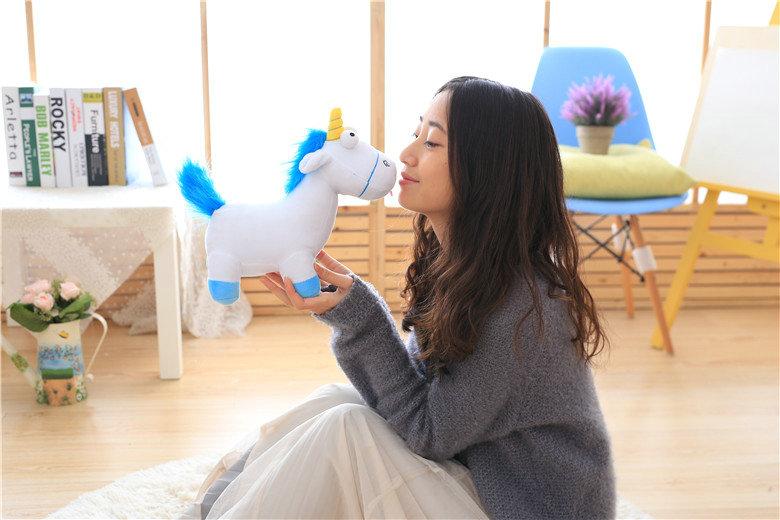HTB14.eCSXXXXXXDXFXXq6xXFXXXb - Cute pink/blue stuffed PP Cotton Horse doll Christmas present kids doll baby plush toys 30cm Cartoon plush Unicorn toys VOTEE