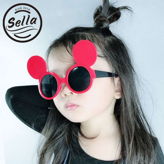 fc60ea4b9d6 Sella Spring Summer Fashion Children Sunglasses Retro Colorful Mickey Kids  Sun Glasses Boys Girls Cutie Eyewear