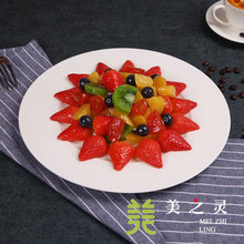 Simulated Food Model Custom Simulation Mango Strawberry Salad Simulation Model Vegetable Food Sample Photography Props Ornaments