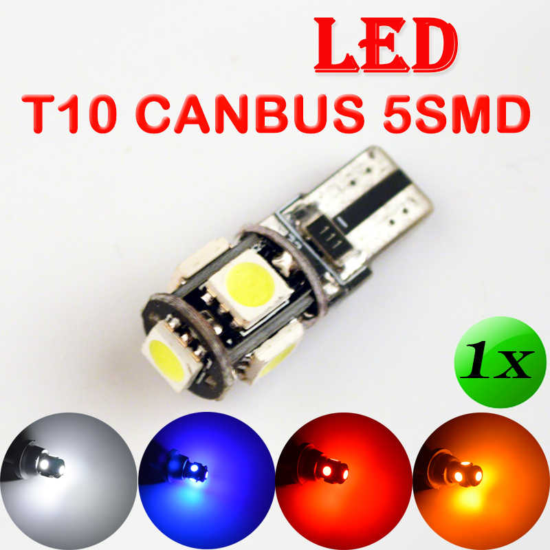 flytop T10 5SMD CANBUS 5050 SMD W5W 194 LED Error Free Car Light Auto Bulb White/Blue/Yellow/Red Color CAN BUS Automotive Lamp