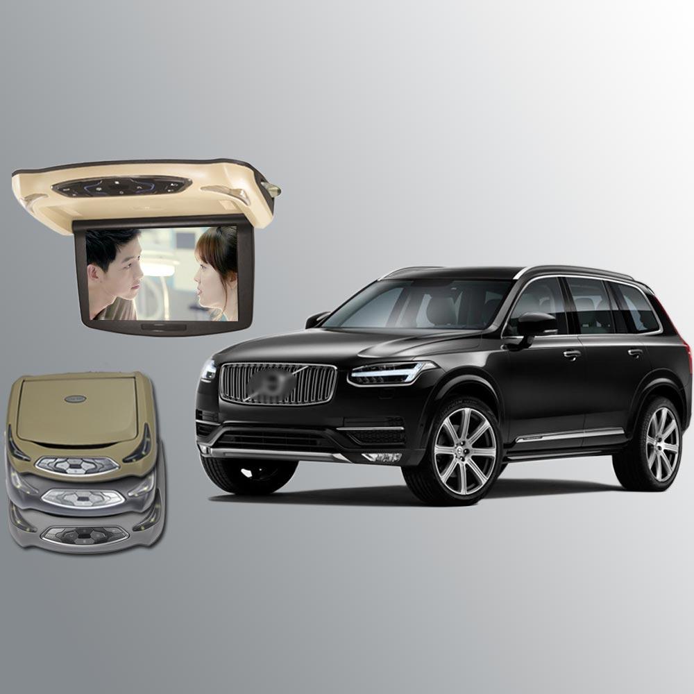 BigBigRoad за Volvo XC90 XC60 XC70 V50 V60 V70 V90 S90 S60L Автомобилен покрив монтирани в кола Монитори LED цифров екран Flip Down DVD