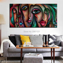 hand painted modern Cubism oil painting girls woman canvas wall art figure canvas picture cubism