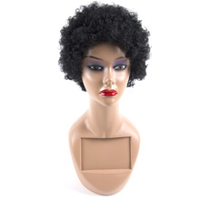 Short Black Curly Human Hair Wigs For Black/White Women Natural Color Indian Hair Wig Short Remy 100% Human Hair Extensions