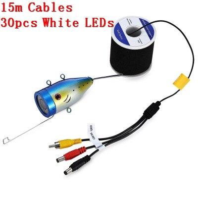 Outlife 1000TVL рыболокатор подводный рыболокатор 7,0 дюймов дисплей профессиональная рыболовная камера 15 инфракрасных ламп 15 белых светодиодов - Цвет: 15 Cables