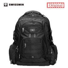 Swisswin 17 inch Men s Laptop Backpack Waterproof Nylon Notebook Computer Bag High Quality 37L Big