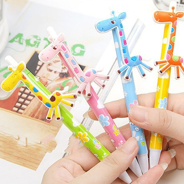 24pcs baby shower return gift cute deer ball pen gift kids birthday party favors souvenirs