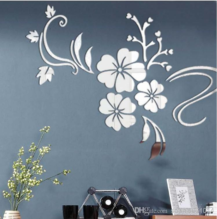 free shipping!hibiscus flowers home decoration crystal 3d wall