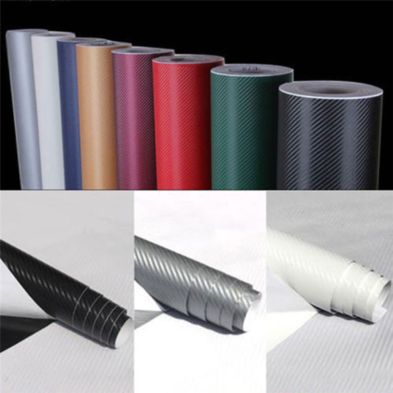 127cmx1 0/20cm 3D Carbon Faser Vinyl Auto Wrap Blatt Rolle Film Auto Aufkleber Motorrad Aufkleber Auto Styling innen Zubehör