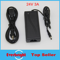 10 pcs/lot Power Adapter AC 100V 240V to DC power adapter charger 24V 3A 72W Switching power supply for RGB Led Strip 5050 3528|adapter ac|adapter charger|adapter power -