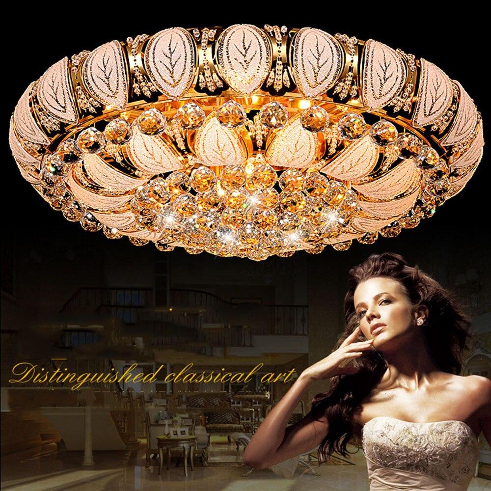 Crystal Ceiling Lamp LED Modern Luxury Flush Mount Crystal Ceiling Light 110-220v Crystal Lustre Luminaire Home Lighting Lamp