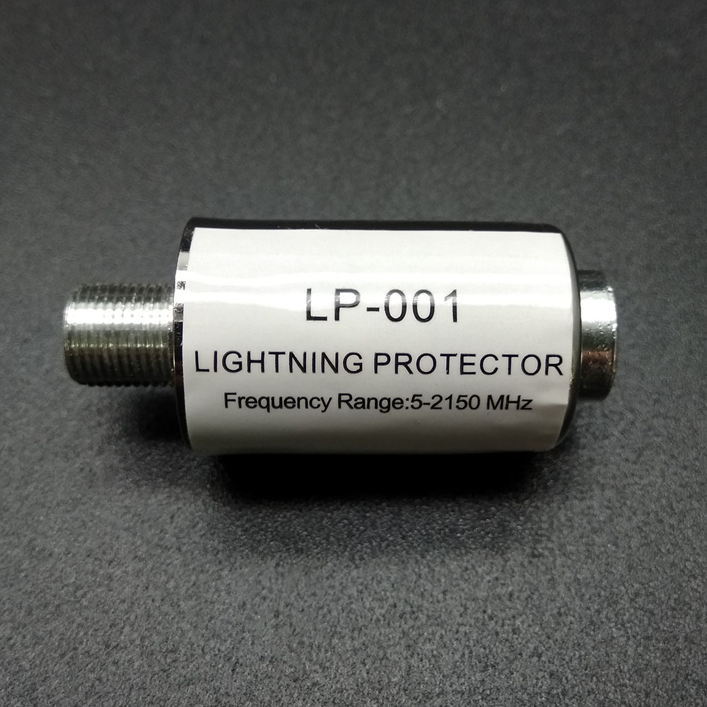 Купить с кэшбэком Wholesale lighting protector coaxial satellite TV lightning protection devices satellite antenna lightning arrester protector