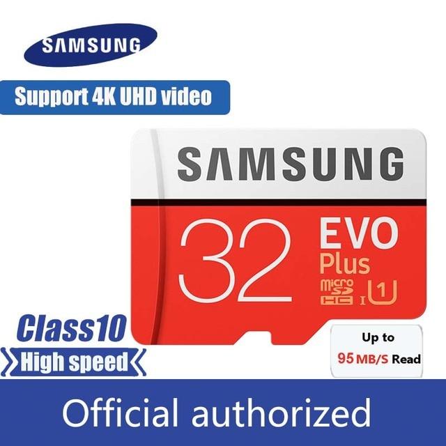 Бесплатная доставка карта памяти Samsung EVO Plus 32 Гб Class10 карты памяти Micro SD объемом 32 ГБ карта C10 мобильного телефона карта microSD UHS-I U3