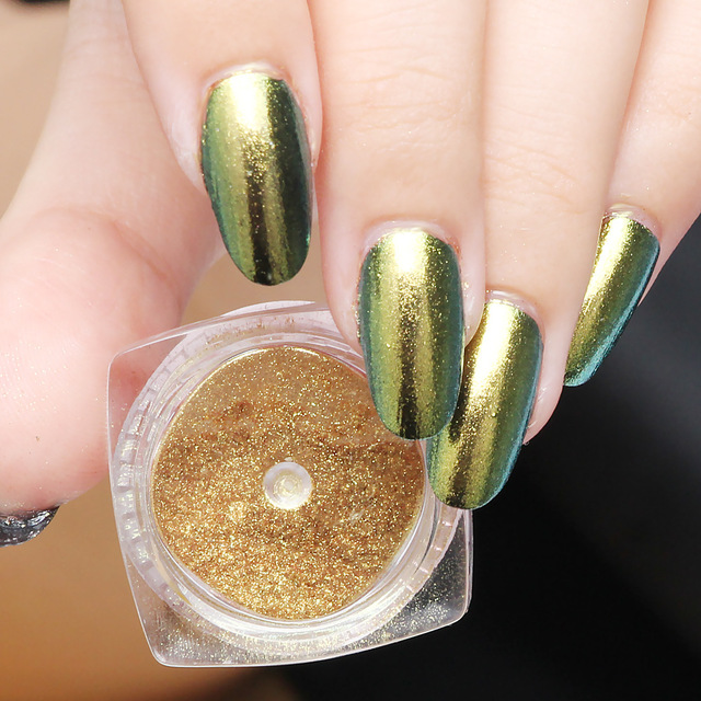 Chrome Nail Powder Shining 2g Aluminium Mirror Powder Nails Glitter ...