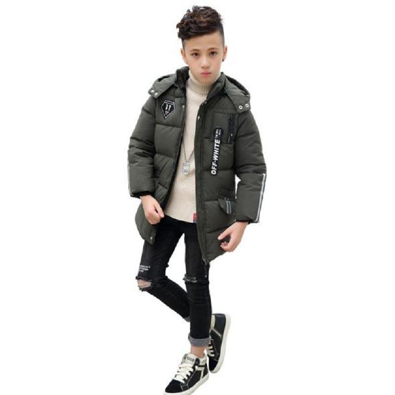 winter baby boy's down jacket kids outerwear boy's winter clothing boy's parkas child jacket overcoat fit height 100cm-140cm
