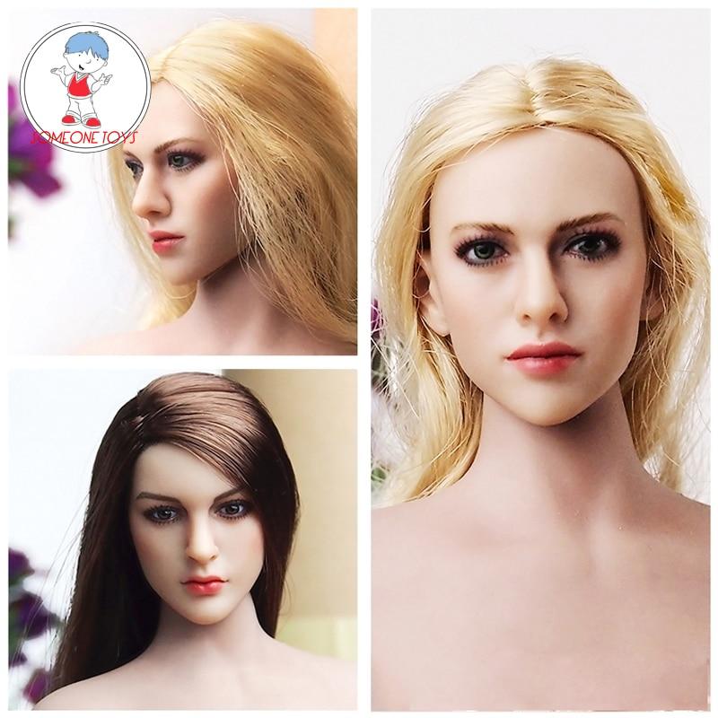 KIMI TOYS 1//6 Female Head Sculpt Model Fit 12/'/' Phicen Body Figure KT004//KT009