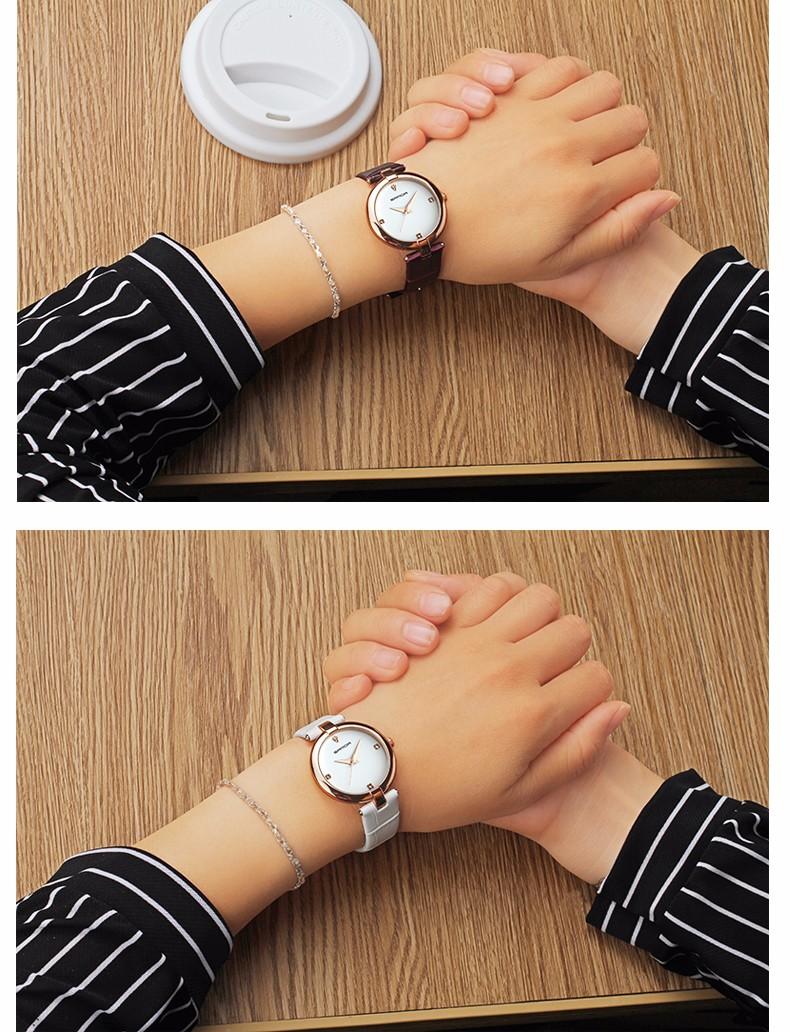 9 Montres à Quartz bracelet en cuir mode chic pour femmes