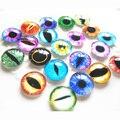50pcs/bag Colorful Glasses Dolls Eyes Dinosaur eyes Doll toys DIY Craft Eyes Dinosaur Dragon Animal Time Gem Accessories 20mm