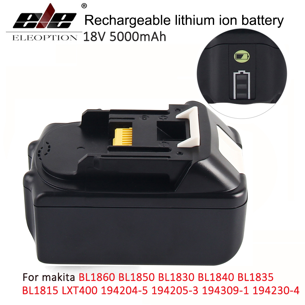 18V 5000mAh with LED Indicator Li ion Battery for Makita 18V Battery 5 0ah BL1860 BL1850