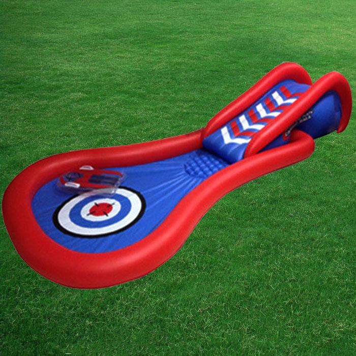 HTB14.ghXyFTMKJjSZFAq6AkJpXaN - 3.8m Giant Kids Inflatable Surf 'N Slide Play Center Water Slide with Pump