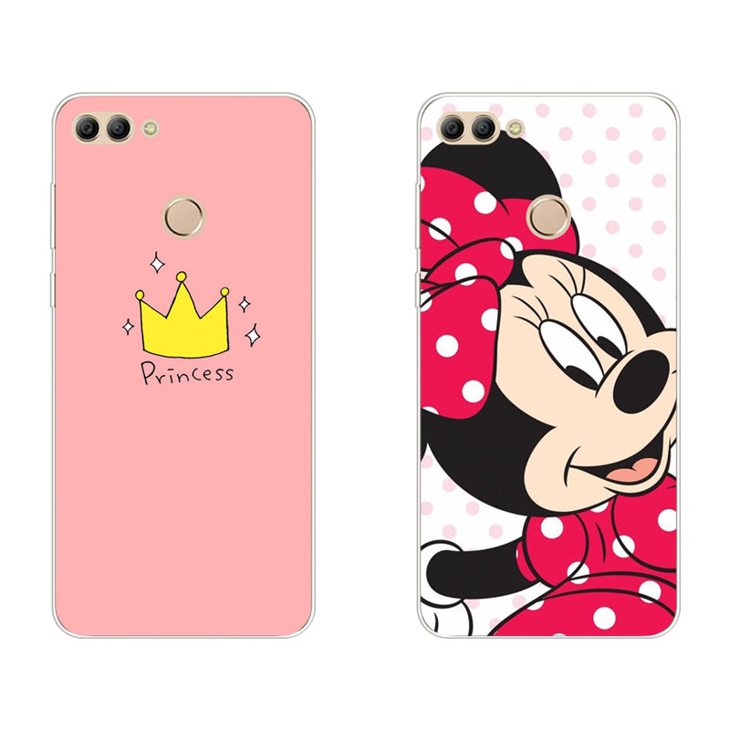 huawei Y9 2018 Case,Silicon Crown cartoon Painting Soft TPU Back Cover for huawei Y9 2018 Phone protect Bags shell