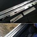 O envio gratuito de aço inoxidável porta placa de chinelo acessórios do carro soleira Para Nissan Qashqai 2007 2008 2009 2010 2011 2012 2013