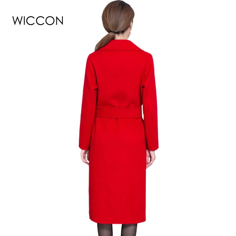 red Cappotti Grey Linea Giubbotti Magliette Lana Giacca Inverno Di Blet Lungo Cappotto Outwear Una Alta khaki Caldo Donne Wiccon Delle Camicette Elegante Qualità E cqWg104W