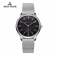 Reef Tiger/RT Casual Vintage Watches Quartz Couple Watches Waterproof Full Steel Mens Watch RGA820