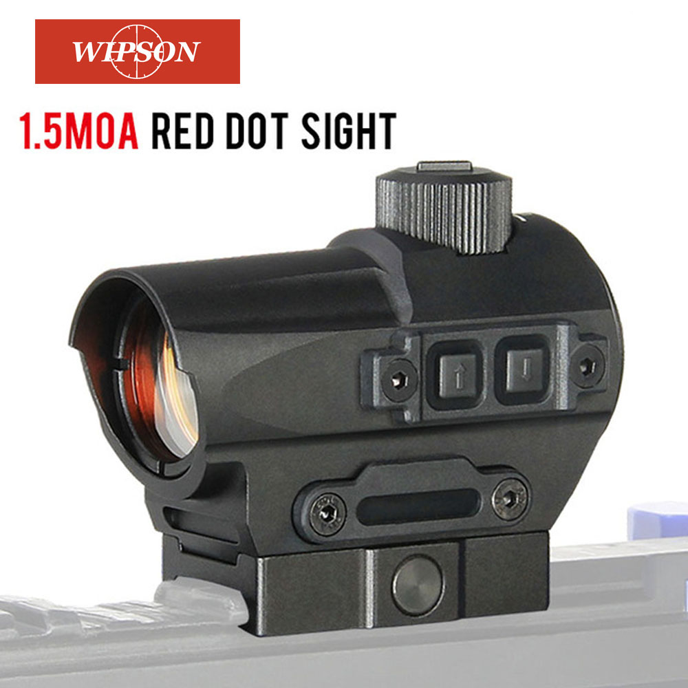 WIPSON Hunting Red Dot Sight 1.5 MOA Mini Red Dot With 20mm Riser Mount Rifle Scope Hunting Optik For Air Rifle Optics