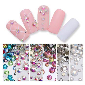 1 Bag Nail Rhinestones Colorful Crystal Mixed Size Nail Studs Manicure Nail Art Decorations Nail Decorations