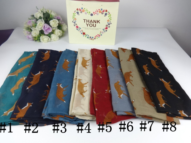 Животных символов с принтом лисы вискоза платки и Шарфы для женщин, шарф Для женщин, бре ...