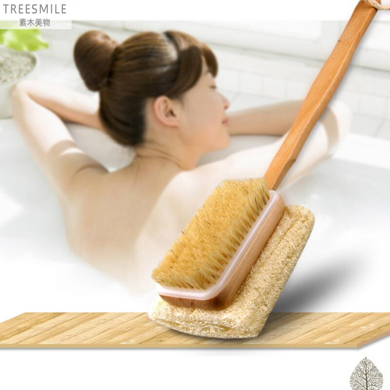 Feixiang Bristle Full Body Brush Wooden Long Handle Brushes Bathroom Bath Body Massage Brush To Remove Horny Brushes D50 And Digestion Helping Home & Garden Bathroom Products