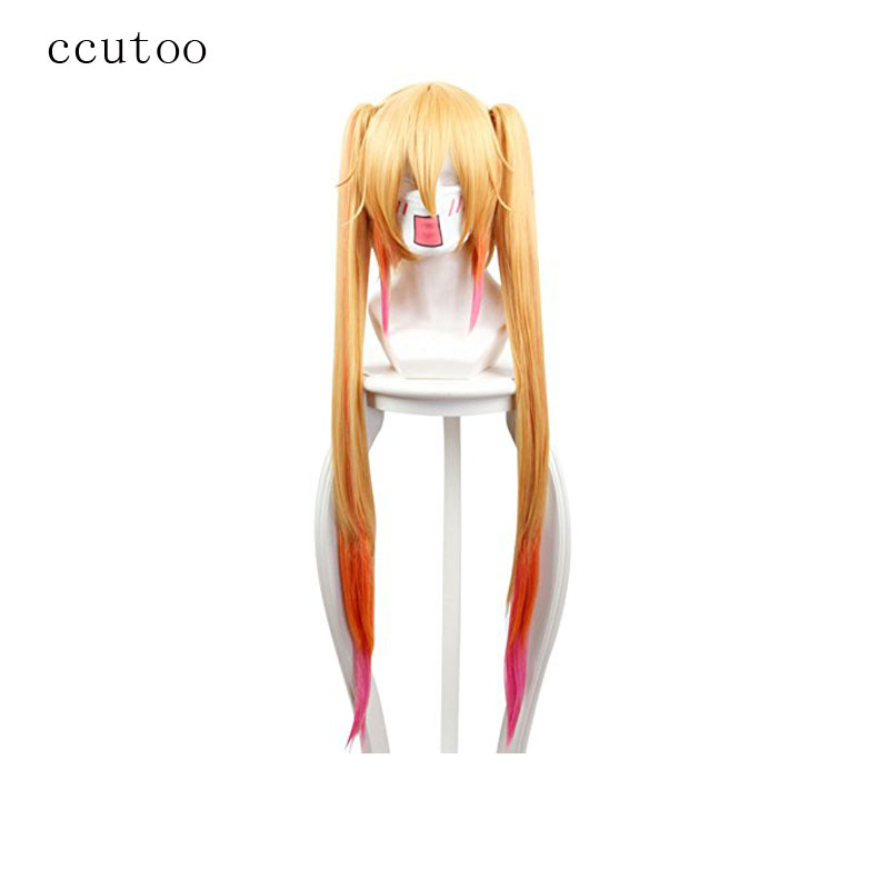 Ccutoo मिस कोबायाशी की ड्रैगन नौकरानी लड़की Tohru सिंथेटिक बाल Cosplay विग +2 क्लिप पटल