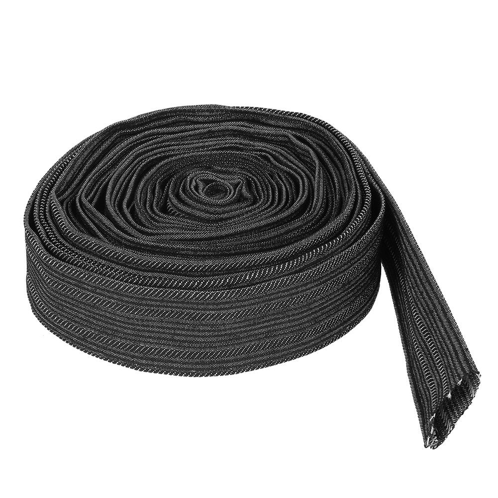 7.5M 27mm Nylon Protective Sleeve Case Sheathed Cable Cover For Welded Welding Tig Torch Hydraulic Hose Plasma Torch Hose Wiring