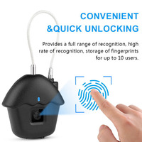 Door Mini Smart Padlock Portable Suitcase Fingerprint Lock Home Keyless USB Rechargeable Luggages Anti Theft Waterproof