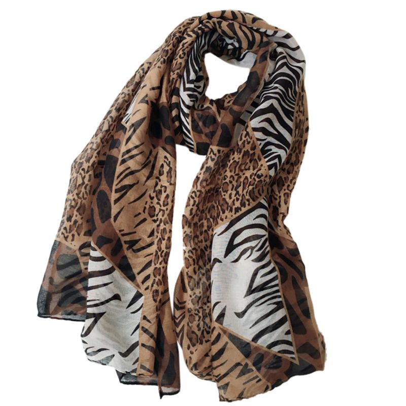 New Ladies Zebra Animal Print Elegant Winter Scarf Shawl Hijab