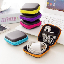 MIRUI Clip Holder Clip Dispenser Desk Organizer Bags Headphones Earphone Cable Earbuds Storage Pouch bag random color