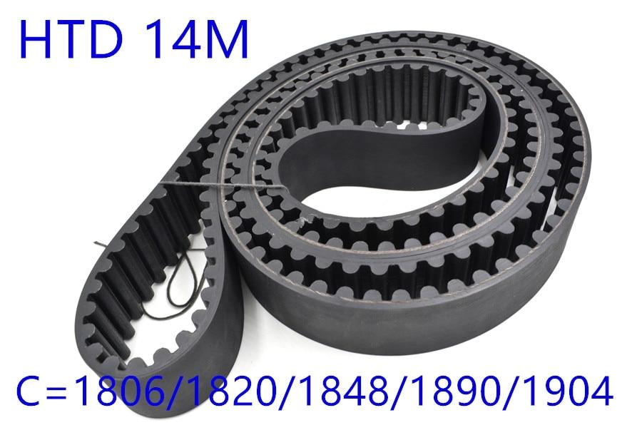 HTD 14M synchronous belt C=1806/1820/1848/1890/1904 width 28.5mm 30mm Teeth 129 130 132 135 136 HTD14M 1848-14M 1890-14M