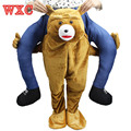 Mascot Carry Me Ride on Costume Animal Funny Fancy Dress Pants Bear For Adult Costume Novelty Gifts Unisex  WXC