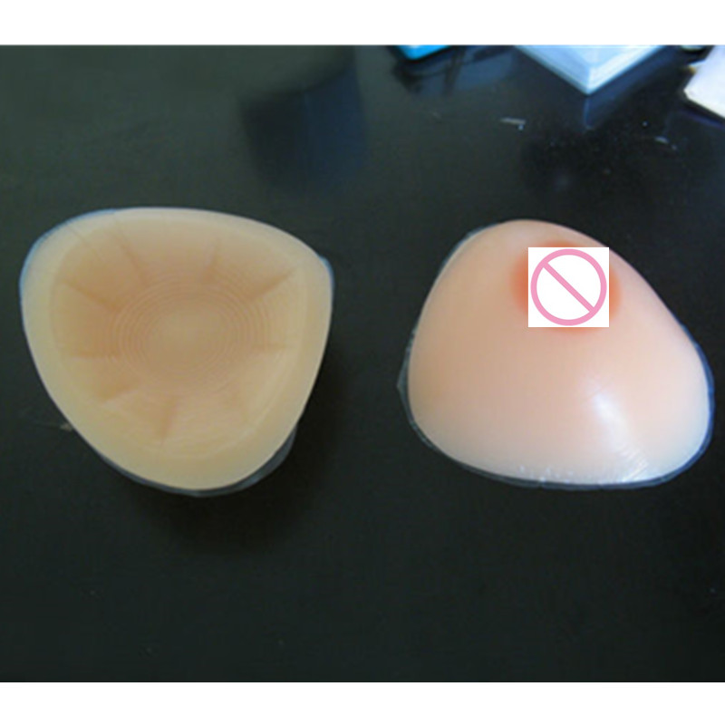 ФОТО cheap hot selling sex silicon breast fake boobs triangle shape 700g A/B cup for shemale or cross-dresser