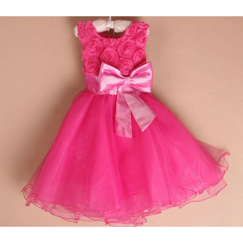 Retail Girls Dress Princess dress children s Party dress with bow girl  wedding flower Baby girls dress free shipping 5031-in Dresses from Mother    Kids on ... 92c016ef9926